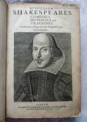 Second Folio, Shakespeare, 1632