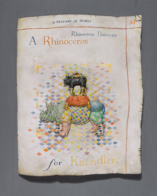 A Rhinoceros for Kaendler. Photo Clarissa Bruce.