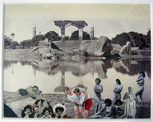 Bathing Party, Lahore. Image copyright Peter Blake, Courtesy of Waddington Custot Galleries