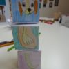 Stacking animal made in a children's workshop