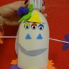 Child's monster made in a craft workshop