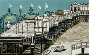 Edward Bawden RA 1903-1989), Brighton Pier, 1958 (signed 1961) © The Estate of Edward Bawden