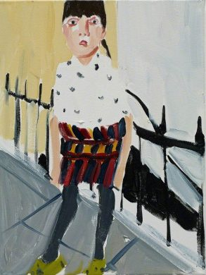 Chantal Joffe RA (b. 1969) Esme by the Railings, 2014, Jerwood Collection, Courtesy the Artist and Victoria Miro (Photography Stephen White) © Chantal Joffe