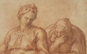 Detail of a Michelangelo drawing